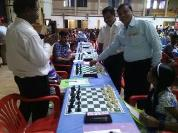 Shri. Stephen Balasamy, General Secretary, Tamil Nadu State Chess Association inaugurated the event by making the first move of the tournament
